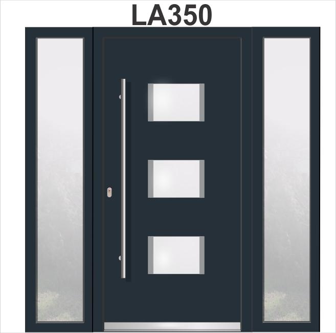 LA350 Haustür Mit 2 Seitenteilen WH94 Aluminium Mit Kunststoff, Welthaus  Türen Shop Welthaus Haustüren Aluminium Türen